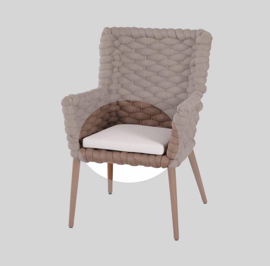 Auflage MBM Iconic Sitzkissen Sessel