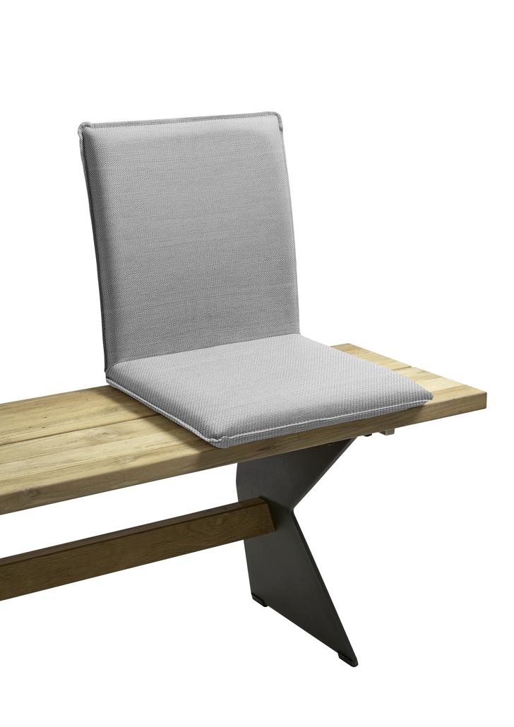 sitzschale niehoff nette sitzkissen f r gartenbank batyline grau holz angebot. Black Bedroom Furniture Sets. Home Design Ideas