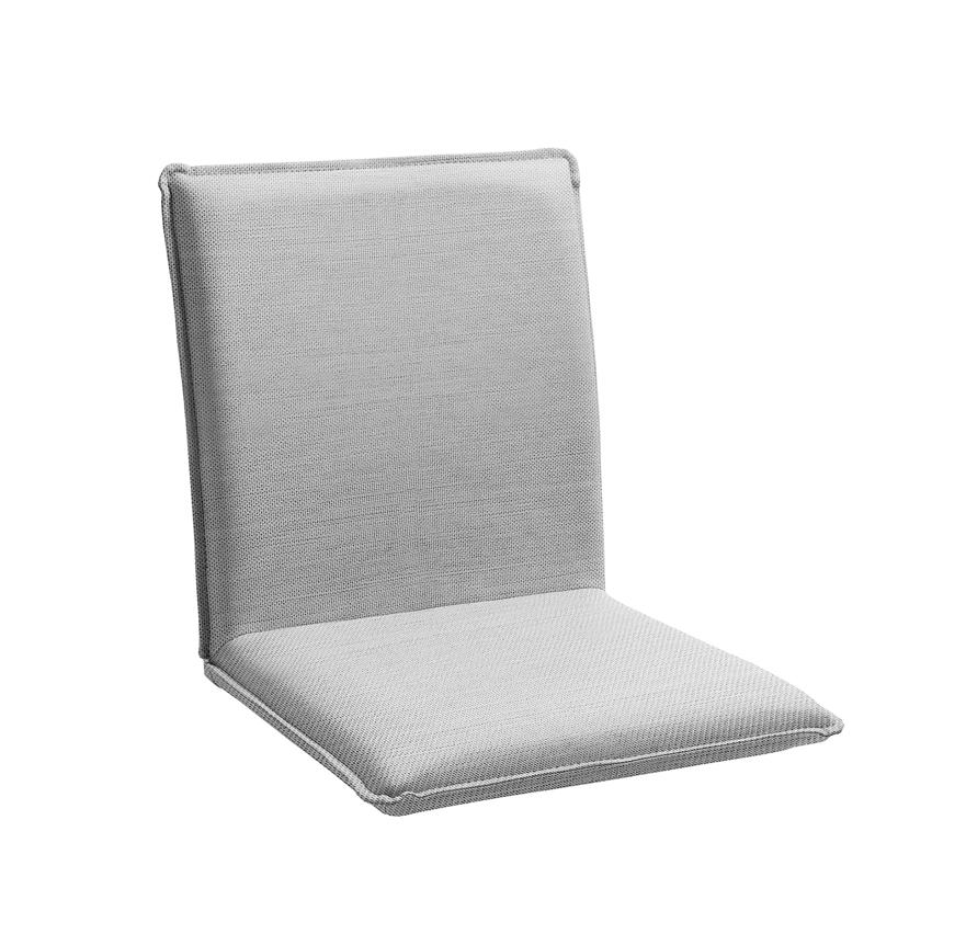 Sitzschale NIEHOFF NETTE Sitzkissen für Gartenbank Batyline grau