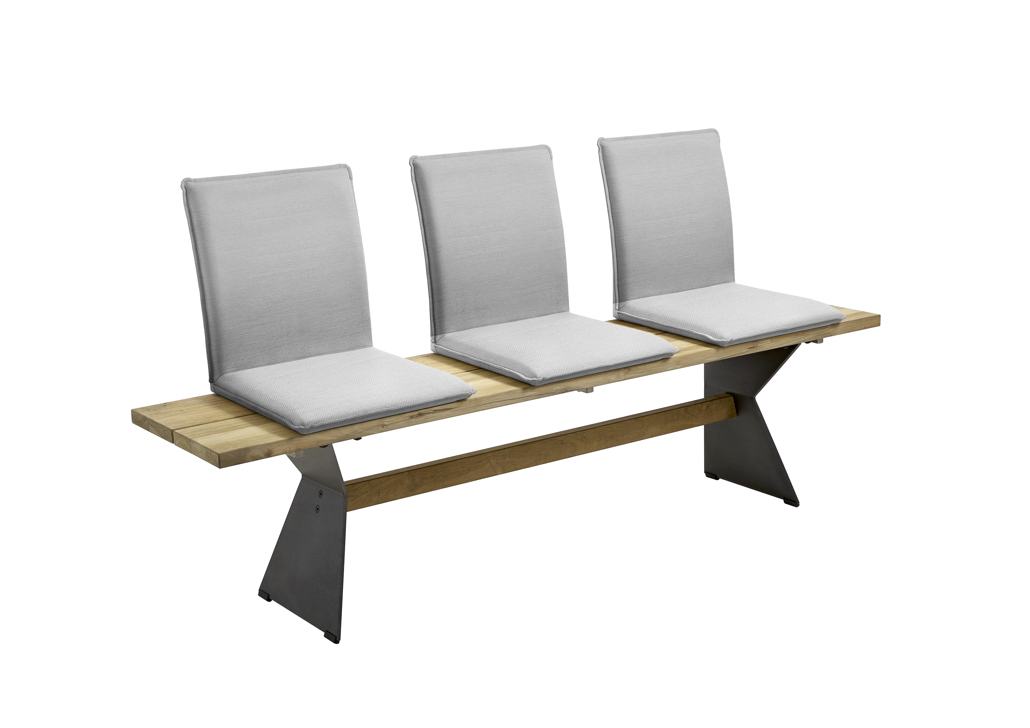 sitzschale niehoff nette sitzkissen f r gartenbank batyline grau gartenm bel fachhandel. Black Bedroom Furniture Sets. Home Design Ideas