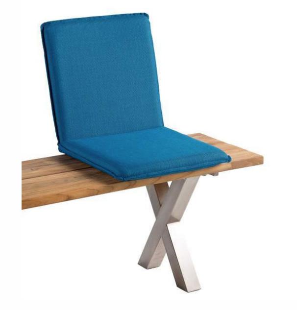 Sitzschale NIEHOFF NETTE Sitzkissen für Gartenbank Batyline türkis