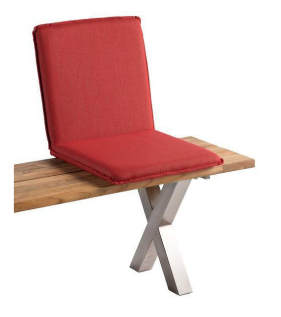 Sitzschale NIEHOFF NETTE Sitzkissen für Gartenbank Batyline koralle