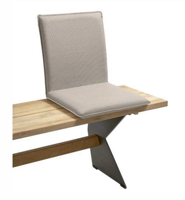 Sitzschale NIEHOFF NETTE Sitzkissen für Gartenbank Batyline taupe