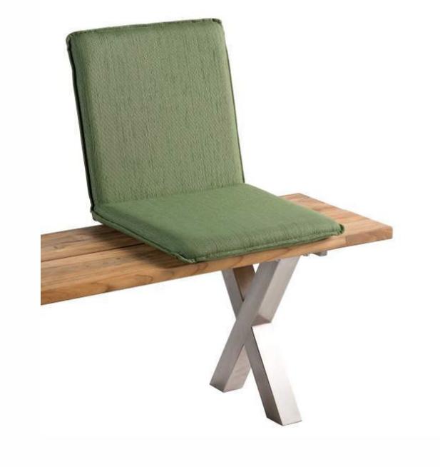 Sitzschale NIEHOFF NETTE Sitzkissen für Gartenbank Batyline grün