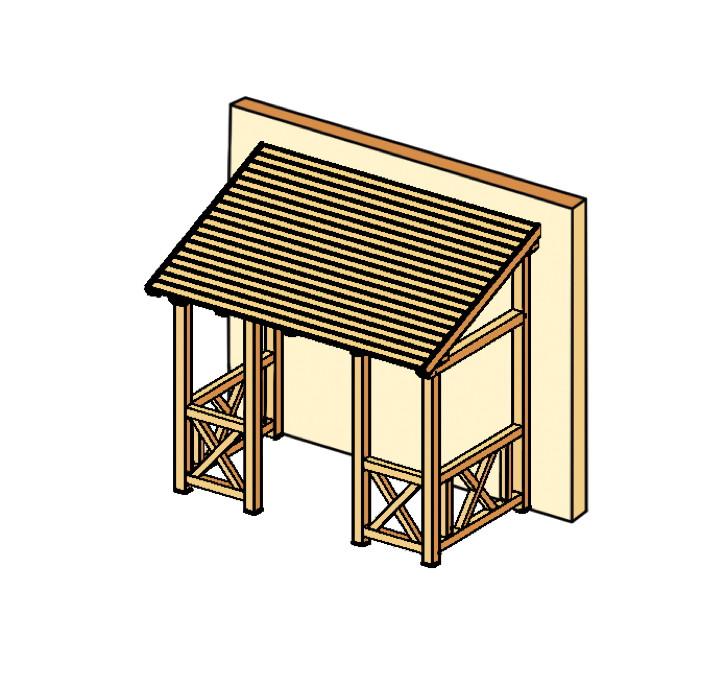 holz vordach skanholz paderborn f r haust ren pultdach ebay. Black Bedroom Furniture Sets. Home Design Ideas