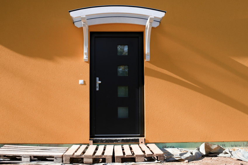 holz vordach skanholz rostock f r haust ren bogen tonnendach holz vordach haust r gartenhaus. Black Bedroom Furniture Sets. Home Design Ideas