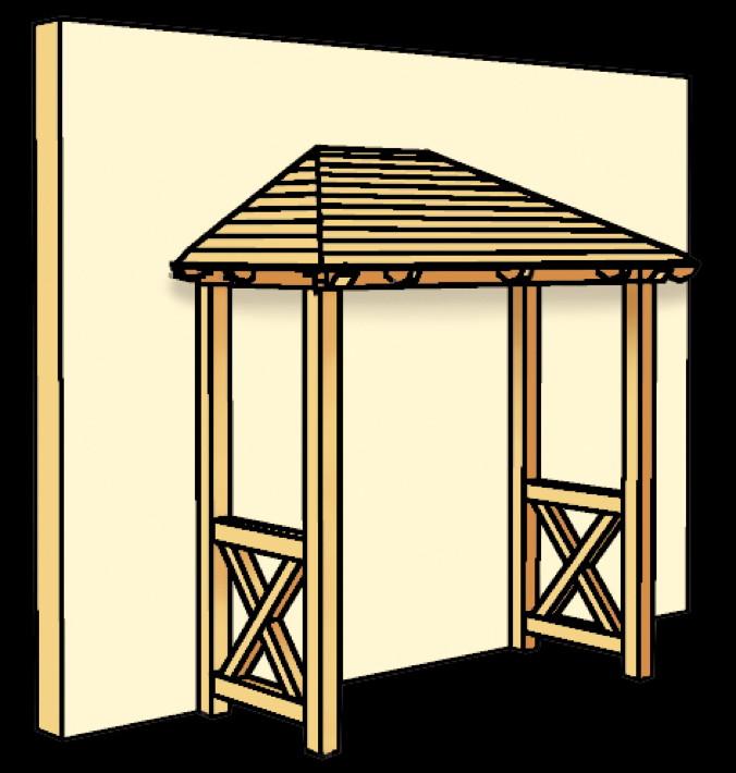 holz vordach skanholz wismar f r haust ren walmdach. Black Bedroom Furniture Sets. Home Design Ideas