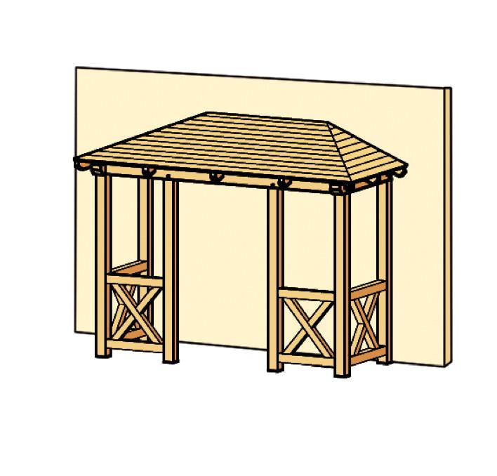 holz vordach bausatz praktiker. Black Bedroom Furniture Sets. Home Design Ideas