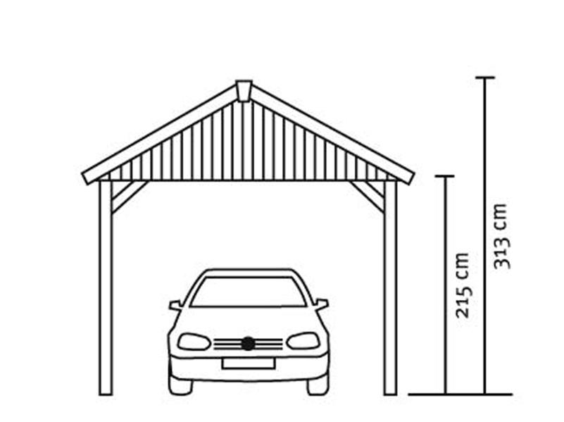 holz carport skanholz sauerland einzelcarport mit dachschalung satteldach vom garten fachh ndler. Black Bedroom Furniture Sets. Home Design Ideas