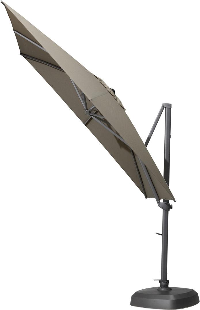 Sonnenschirm 4SEASONS Siesta 3x3 anthrazit/taupe Ampelschirm hanging Parasol