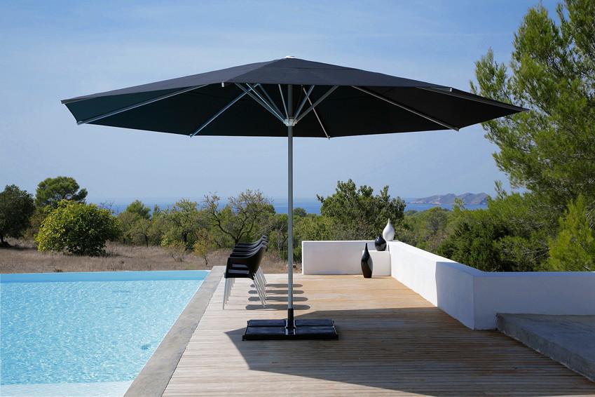sonnenschirm caravita samara classic rund stockschirm aluminiumschirm. Black Bedroom Furniture Sets. Home Design Ideas