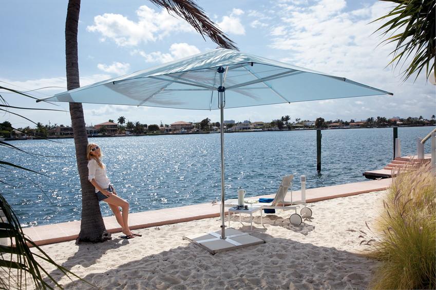 Sonnenschirm CARAVITA Supremo quadratisch Stockschirm, Aluminium Parasol