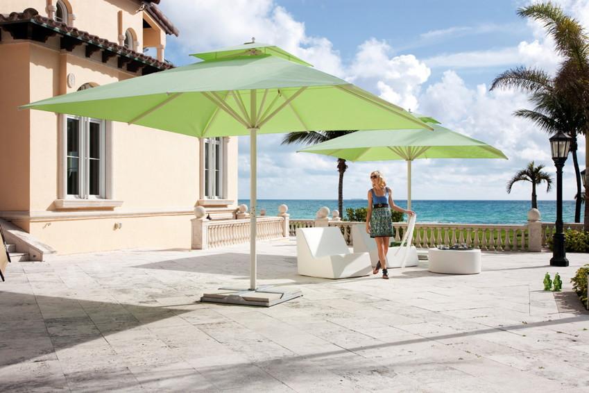 Sonnenschirm CARAVITA Big Ben quadratisch Stockschirm, Alu Parasol