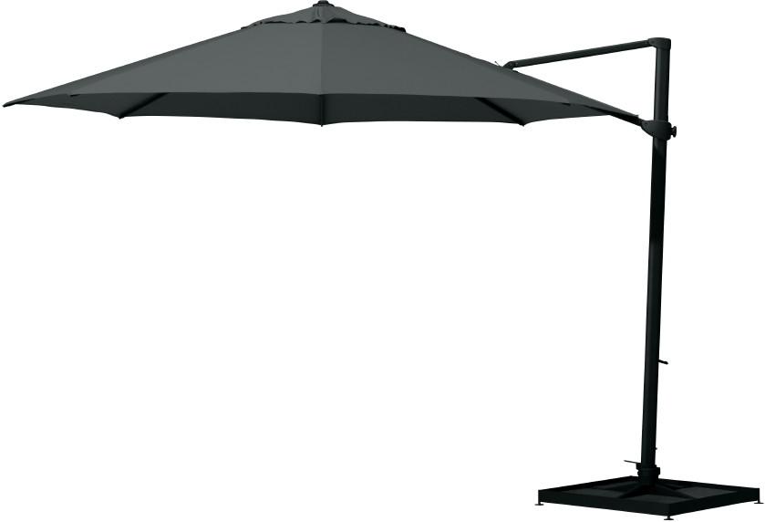 Sonnenschirm 4SEASONS Siesta Ø350 anthrazit/schwarz Ampelschirm, Parasol
