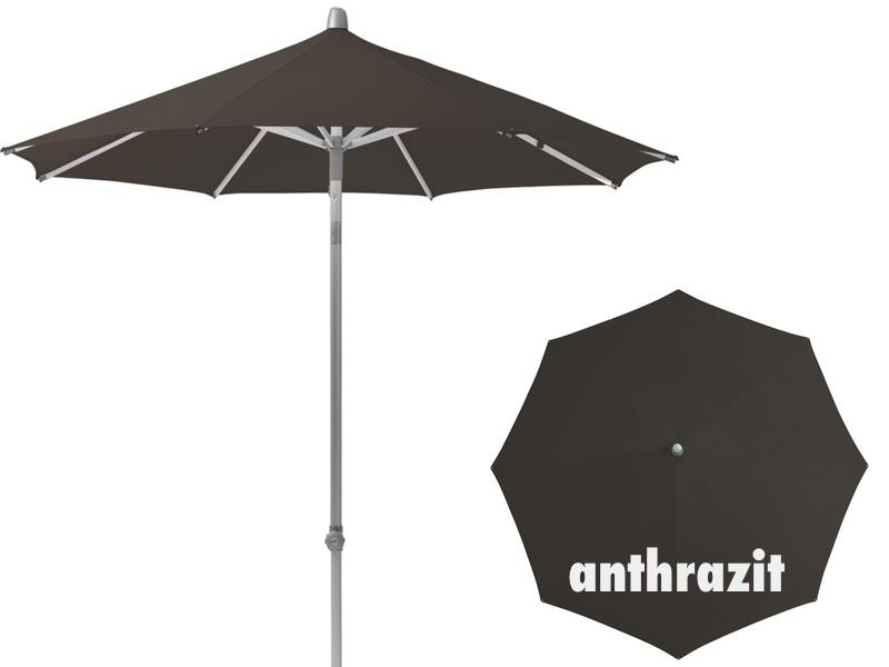 Gartenmobel In Polyrattan : Sonnenschirm GLATZ Stockschirm «Alu Push EASY rund» anthrazit