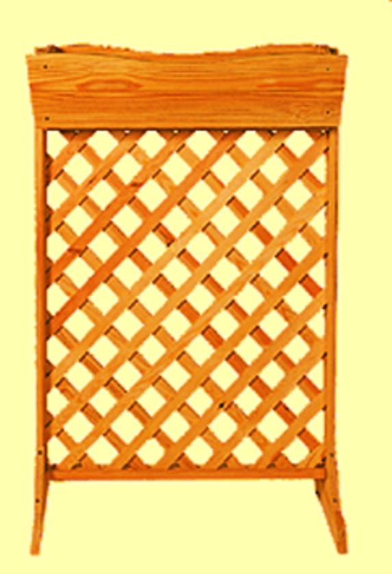 sichtschutz mit blumenkasten promadino rustica auf rankhilfe spalier vom garten fachh ndler. Black Bedroom Furniture Sets. Home Design Ideas