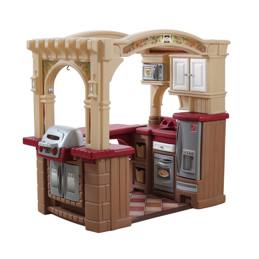 Kinderk che step 2 grand walk in kitchen kunststoff for Kitchen set for 8 year old