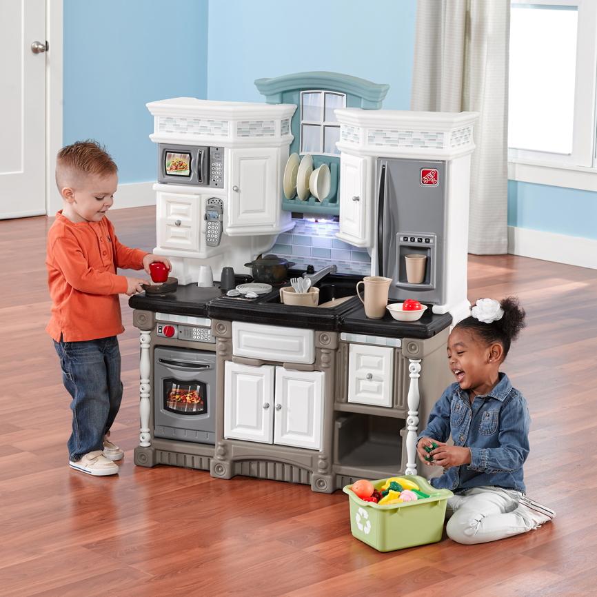 kinderk che step 2 dream kitchen kunststoff k che. Black Bedroom Furniture Sets. Home Design Ideas