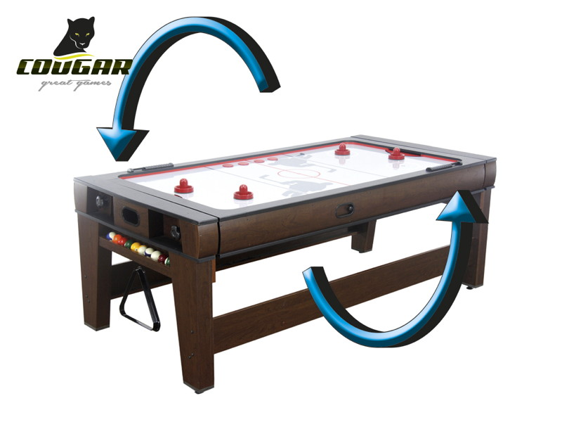 spieltisch cougar reverso air hockey pool billiard kicker tischfu ball airhockey. Black Bedroom Furniture Sets. Home Design Ideas