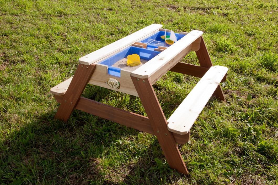 sitzgruppe holz axi nick picknicktisch u wasser spieltisch holz sitzgruppe. Black Bedroom Furniture Sets. Home Design Ideas