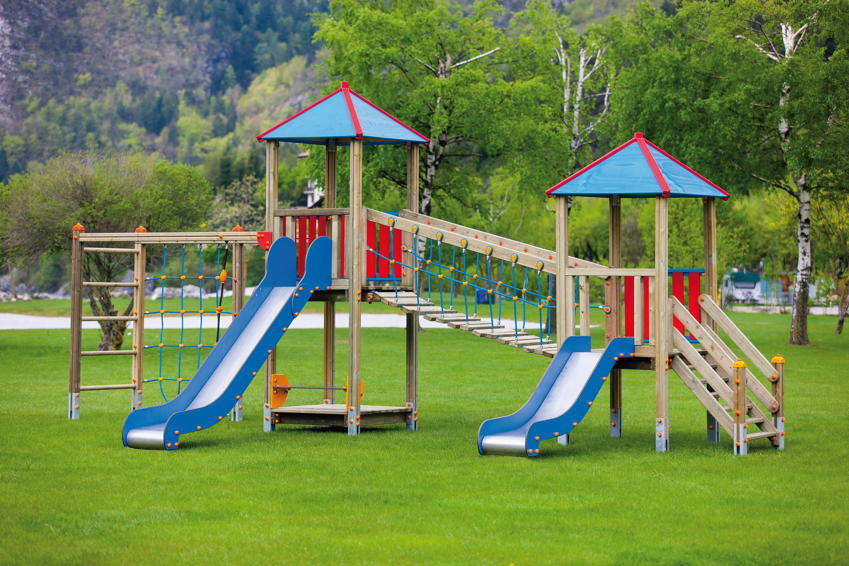 Spielturm Holzhof «MAX HOLZ Kletterturm mit Brücke & Rutsche, Kletteranbau» | Kinderspielgeräte ...