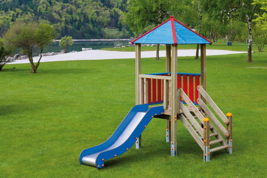 Fabulous Spielturm DIN EN 1176 «MAX HOLZ Kletterturm 84 mit Rutsche» | vom EI22