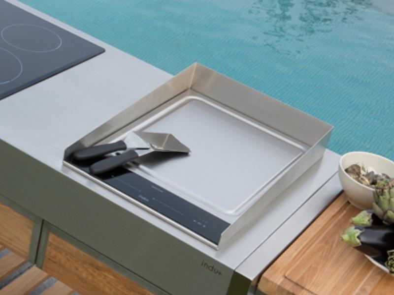 schutz indu spritzschutz f r kochplatte teppanyaki 380 gartenm bel fachhandel. Black Bedroom Furniture Sets. Home Design Ideas