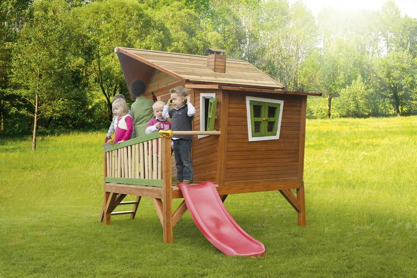 kinder-spielhaus holz axi «emma» kinder-holzhaus auf stelzen, Schlafzimmer design