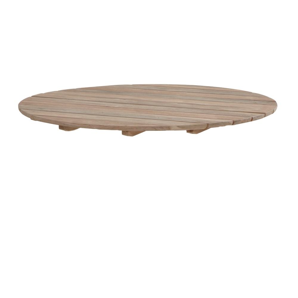 Tischplatte 4SEASONS «Cricket Teakholzplatte Ø 130cm ...
