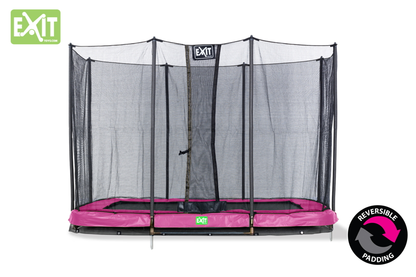 Kinder-Trampolin EXIT Bodentrampolin Twist Ground eckig 214x305cm