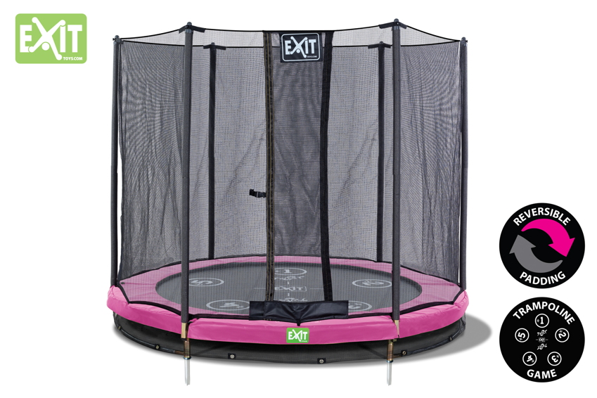 Kinder-Trampolin Bodentrampolin EXIT Twist Ground rund Ø183cm Sicherheitsnetz