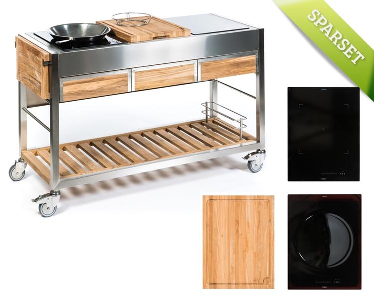 Outdoorküche Möbel Sale : Outdoorküche indu «tomboy teak ultimo one zone wok platte