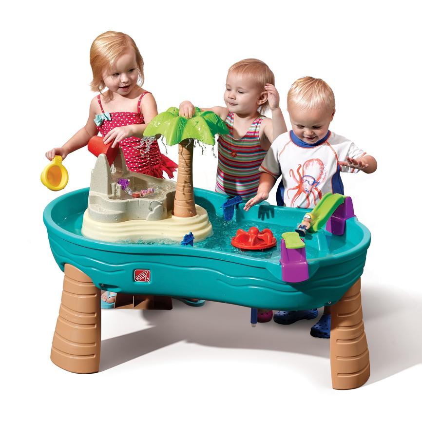 wasser spieltisch step 2 splish splash wassertisch sandkasten kinderspielger te f r den garten. Black Bedroom Furniture Sets. Home Design Ideas