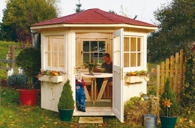 gartenpavillon holz geschlossen holz pavillon 8 eck. Black Bedroom Furniture Sets. Home Design Ideas