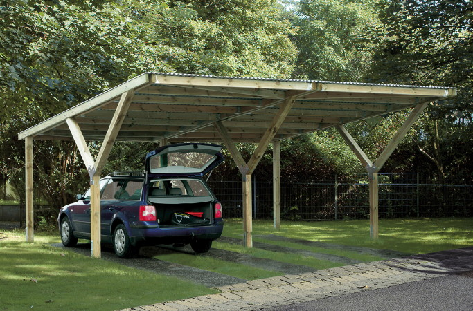 carport holz satteldach bausatz. Black Bedroom Furniture Sets. Home Design Ideas