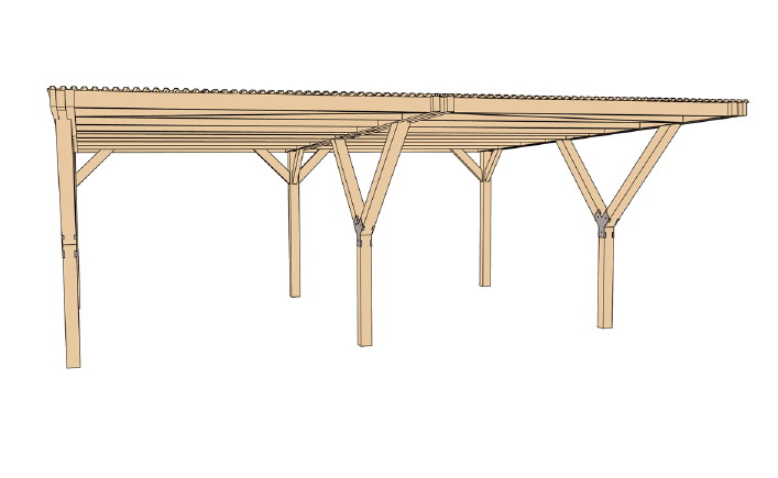 sandy weka carport bausatz doppelcarport 61260600000. Black Bedroom Furniture Sets. Home Design Ideas