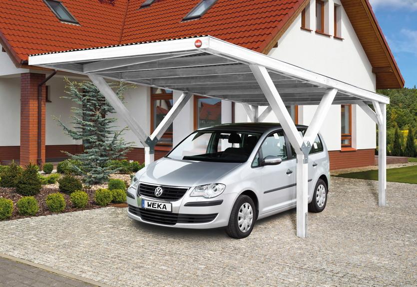 Carport Holz Mit Satteldach ~ Holz Carport Bausatz WEKA «Y Einzelcarport»  eBay