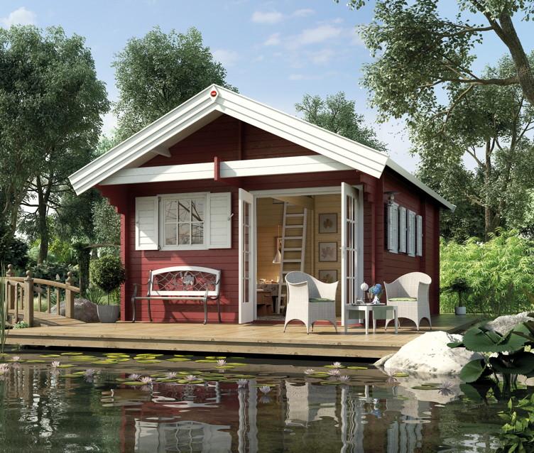 ferienhaus weka weekendhaus 155 wochenend haus holz haus. Black Bedroom Furniture Sets. Home Design Ideas