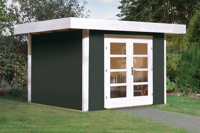 gartenhaus flachdach weka chill out gr e 2 new design holzhaus bausatz ebay. Black Bedroom Furniture Sets. Home Design Ideas
