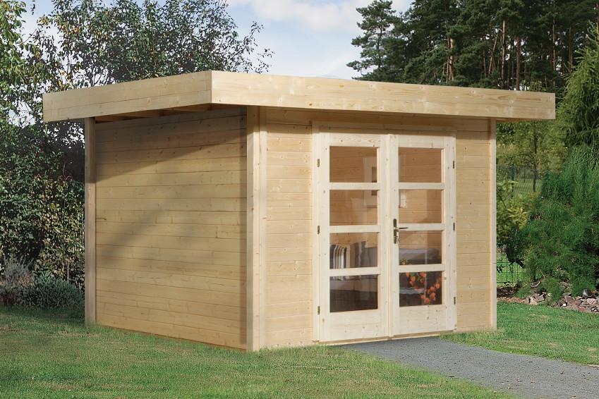 Gartenhaus Holz Bausatz Flachdach WEKA