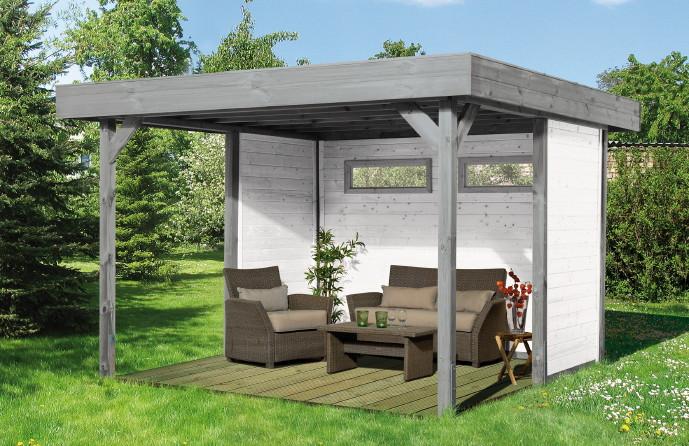 gartenlaube aus holz gartenpavillon. Black Bedroom Furniture Sets. Home Design Ideas