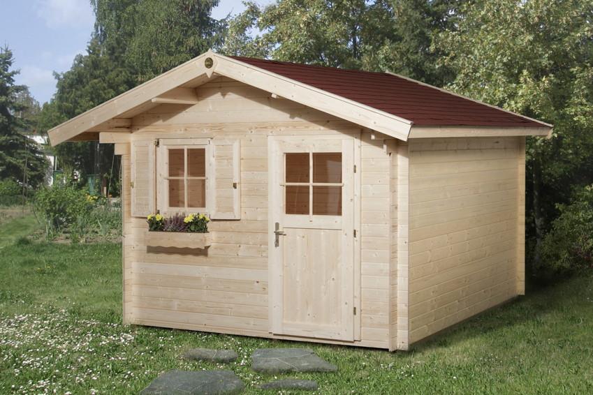 gartenhaus weka «nagold inkl. 60 cm vordach» holz-haus-bausatz,