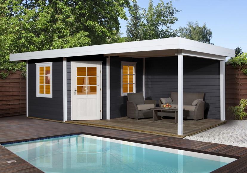 gartenhaus flachdach weka designhaus 213 gr e 1 f nf. Black Bedroom Furniture Sets. Home Design Ideas