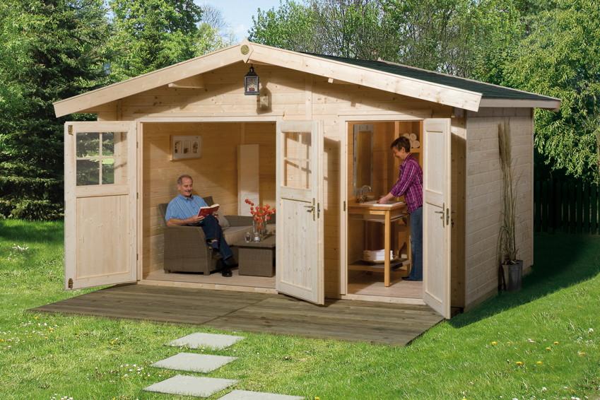 Gartenhaus WEKA Gartenhaus 261 Holz-Haus-Bausatz 2-Raum Gartenhaus