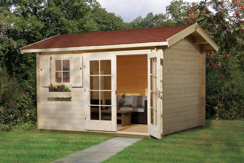 gartenhaus weka gartenhaus 152 45mm holz haus bausatz. Black Bedroom Furniture Sets. Home Design Ideas