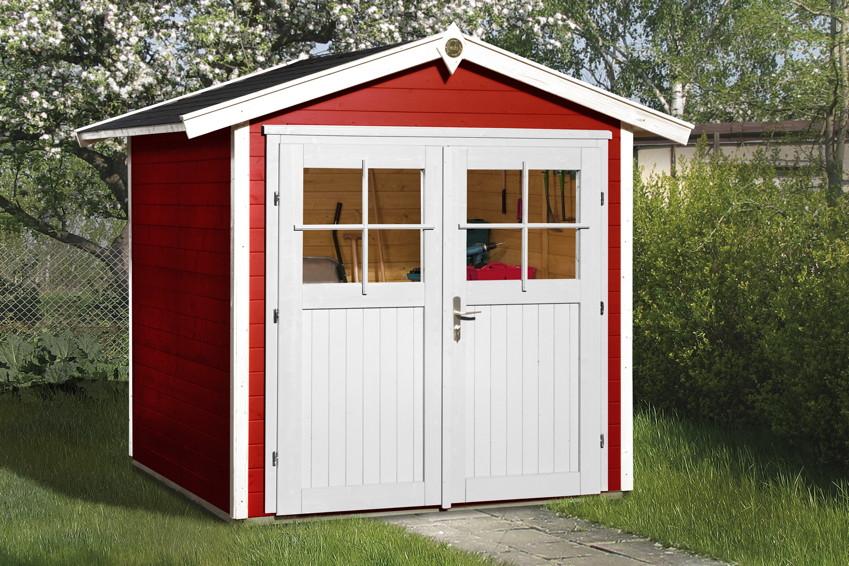 Gartenhaus streichen schwedenrot  Gerätehaus WEKA «Gartenhaus 224» Gartenhaus Holzhaus-Bausatz ...