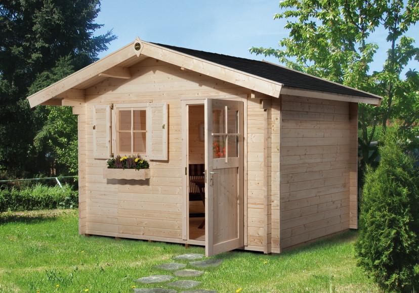gartenhaus weka gartenhaus 131 45mm gartenhaus holz haus. Black Bedroom Furniture Sets. Home Design Ideas