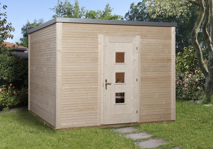 Gartenhaus Flachdach Designhaus wekaLine 413
