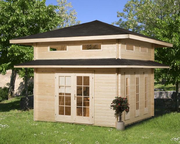 Ferienhaus WEKA Weekendhaus 157 Weekend-Gartenhaus Holz-Haus-Bausatz