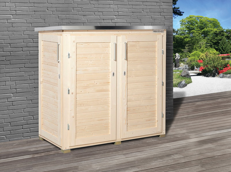 ger teschrank weka garten q terras holz angebot. Black Bedroom Furniture Sets. Home Design Ideas